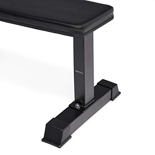 Amazon Basics Flat Weight Workout Exercise Bench - 41 x 20 x 11 Inches, Black