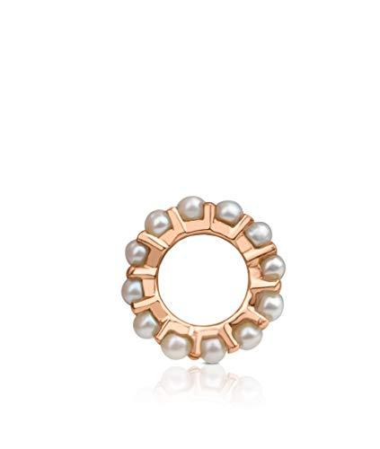 TOUS Colgante pequeño Shield de Plata Vermeil Rosa con Perlas