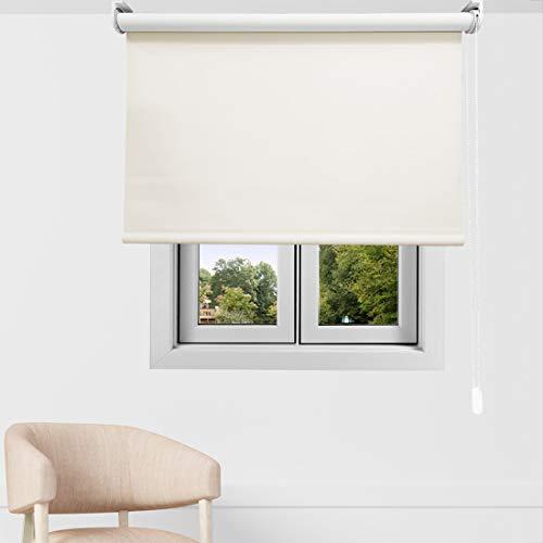 EB ESTORES BARATOS Estor Enrollable Opaco Premium. Regulador de Luz y Temperatura FABRICACIÓN A Medida! Desde 40 cm hasta 300 cm de Ancho. Color: Arena. Medidas: 140cm x 140cm