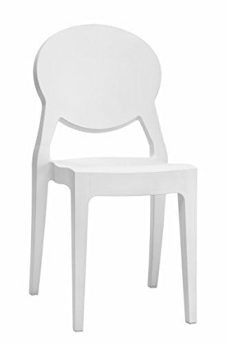 Scab, Sedia - Igloo Chair, Colore: Bianco coprente, Set da 2