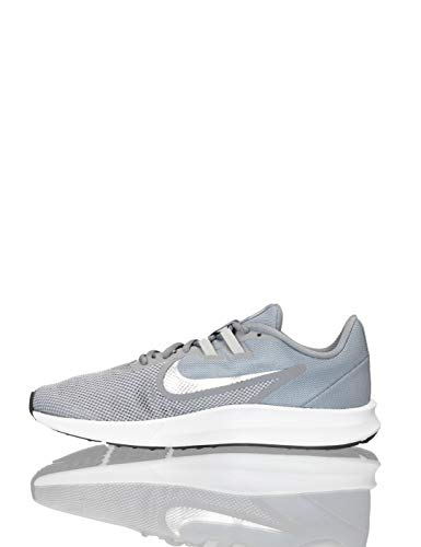Nike Herren Downshifter 9 Laufschuhe, Grau (Cool Grey/Metallic Silver-Wolf Grey-Black-Pure Platinum-White 001), 42 EU