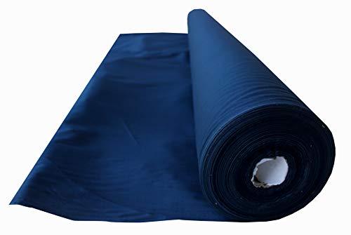 Full Funk - Tela de muselina fina 100% algodón, 147 cm de ancho, 91 cm de largo, azul polinesio