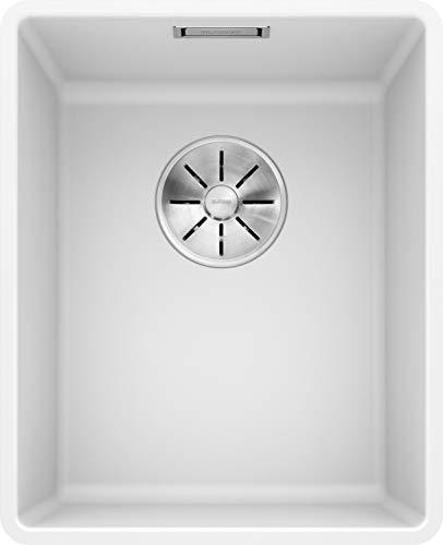 BLANCO SUBLINE 320-F - Flächenbündige Granitspüle für die Küche für 40 cm breite Unterschränke - aus SILGRANIT - Weiß - 523419