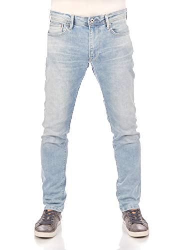 Pepe Jeans Herren Jeans Stanley, Light Blue Denim (000Denim), 38W / 32L