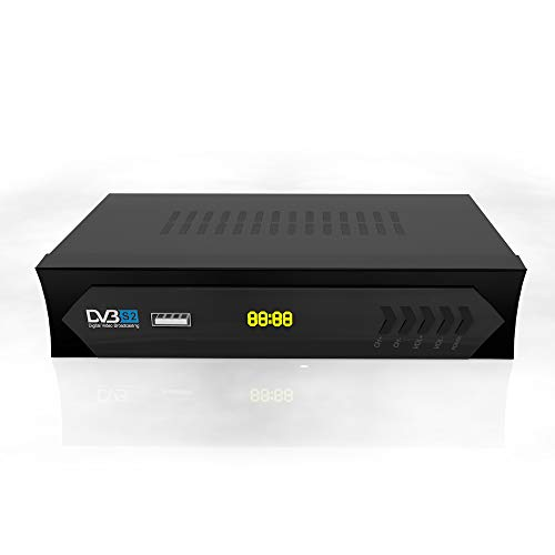 Vmade FULL HD DVB-S/S2 Satellite Receiver for TV or LCD Monitor, Free To Air, USB...