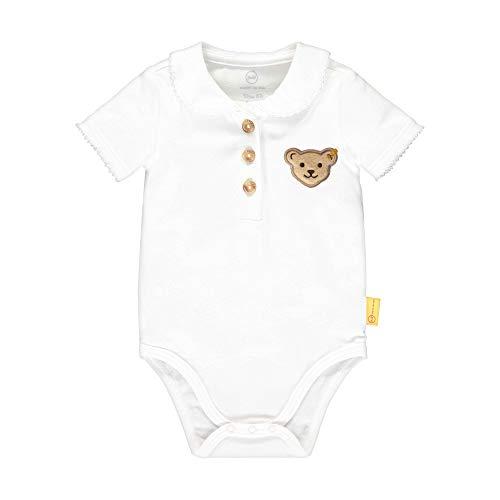 Steiff Baby-Mädchen Formender Body, Weiß (Bright White 1000), 56 (Herstellergröße: 056)