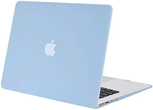 MOSISO MacBook Air 13 inch Case (Models: A1369 & A1466, Older Version 2010-2017 Release), Plastic Hard Shell Case Cover Only Compatible with MacBook Air 13 inch, Airy Blue
