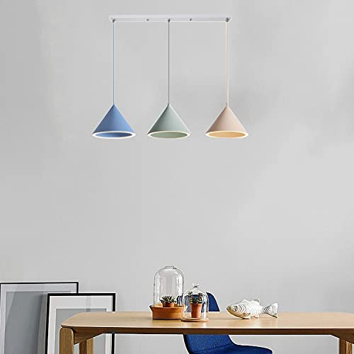 ZJING Lámpara Colgante De Color Macaron, Lámpara De Madera Creativa Simple Y Moderna, Accesorios De Iluminación Colgantes Coloridos De Metal Ajustable para Sala De Estar,Style e