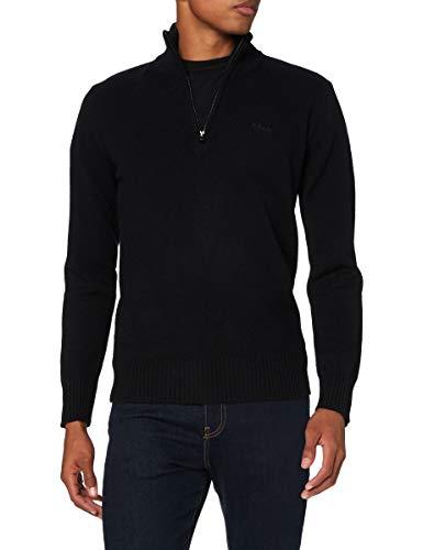 Schott NYC Pllance2 Maglione Pullover, Nero, 3XL Uomo