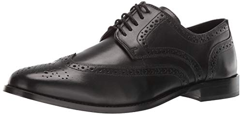 Nunn Bush Men's Nelson Wing Tip Oxford Dress Casual Lace-up,Black,7 M US