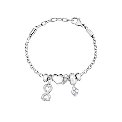Morellato Bracciale da donna, Collezione Drops, in acciaio, cristalli - SCZ1008