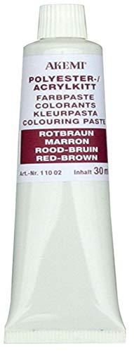 Akemi Farbpasten, rotbraun 11266, zum Einfärben von Marmorkitt Farbe, Farbkonzentrat, Kittfarbe einfärben und anpassen (rotbraun)