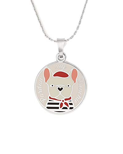 Alex and Ani 32'' Color Infusion Pardon My Frenchie Necklace Silver One Size
