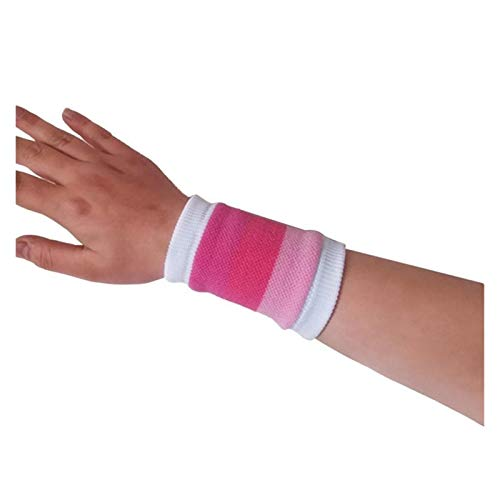 Augus Jacob 1 UNIDS Muñeca de algodón Soporte de Pulsera Deporte Sweatband Mano Wraps Guards Gym Voleibol Muñeca (Color : Rose Red)