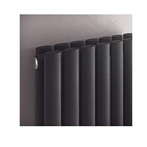 Design Paneelheizkörper zweilagig Forte Duo anthrazit - Vertikal Heizwand Heizkörper Badheizkörper (H 1800 mm x B 236 mm)