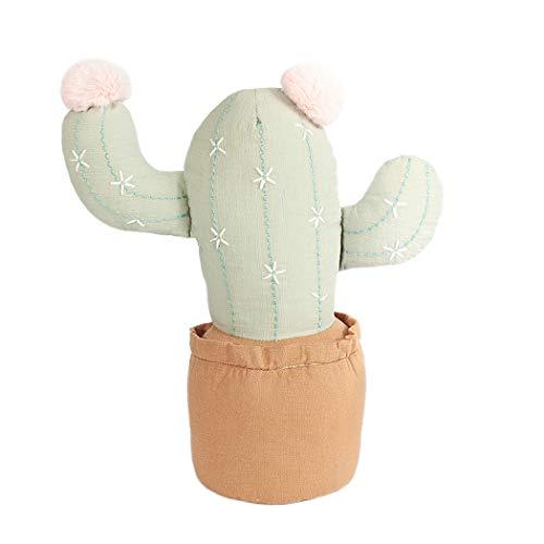 MON AMI Almohada de Cactus de Peluche Suave en 3D, cojín con Forma de Cactus en Maceta, cojín con Forma de Cactus y Cojines Decorativos para Cama de niño o sofá, Color Azul...