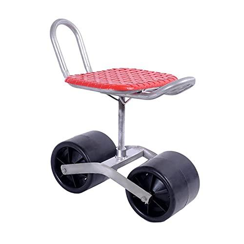 360 ° SWIVEL SEAT ROLLING Arbeitssitz Mobilitätshilfe Home Gartenwagen mit Rädern lindern Schmerzen vom Biegen kniend und krabbeln perfekt für Garten- und Haushaltsaufgaben Home Zuteilungsgeschenke