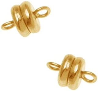 Beadaholique Magnetic Clasp, 6x4.5mm, 4 Clasp Sets, 22K Gold Plated