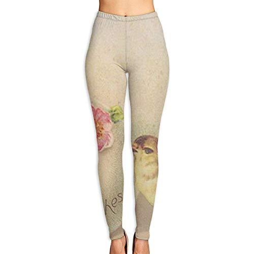 Ewtretr Yoga Pilates Hosen Fitnesshose für Damen, Best Easter Wishes Printed Leggings Full-Length Yoga Workout Leggings Pants