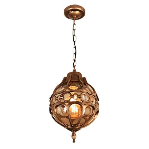 SPNEC Lámpara Colgante, de Aluminio Fundido Diseño del Cuerpo de la lámpara, fácil de Limpiar, Estilo Europeo, Simple Balcón Patio Decoración de la lámpara