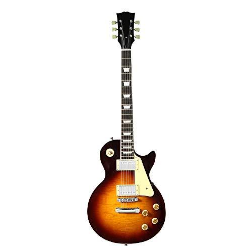 HUANH 38 pulgadas 22 trastes LP guitarra eléctrica Cherry Burst Color Maple...