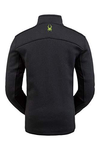 Spyder Herren Encore Fleecejacke - Male Half Zip Pullover Outdoor Bekleidung, Herren, Encore Half Zip Fleece Jacket, Schwarzes Mojito, Large