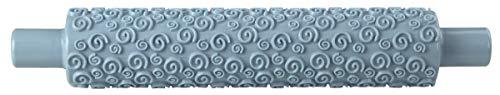 Zenker Fondant-Prägeroller 31 cm CANDY, Rollstab aus Kunststoff, Teigrolle für die Dekoration von Zuckergebäck, Zuckerguss, Fondant, Kuchen (Farbe: Ice Blue), Menge: 1 Stück