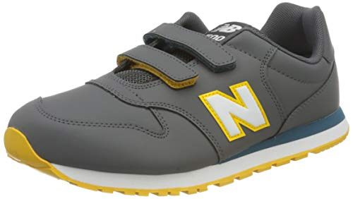 New Balance 500 YV500RGB Medium, Basket garçon, Grey (Magnet RGB), 28