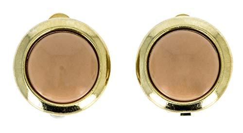 NEUMANN Ohrclips Damen ohne Ohr-Löcher Sole kaffee inkl. Geschenkverpackung Inkl. Schmuckschachtel und Geschenktüte - ein komplettes Geschenk für sie, Geschenke für Frauen