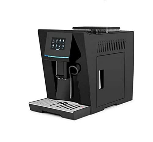Ekspres do kawy Automatyczne gospodarstwa domowego Mały ekran dotykowy Zintegrowany pompa parowa ciśnieniowa ekspres do kawy (Color : Black)