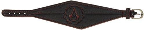Assassins Creed Unity Finition Cuir Bracelet avec Écusson en Relief Classique Logo (Bleu)