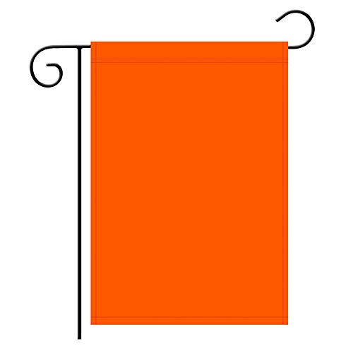 TSMD Solid Orange Garden Flag Double Sided Plain Orange DIY Flags,Outdoor Yard Decorative Flags,12
