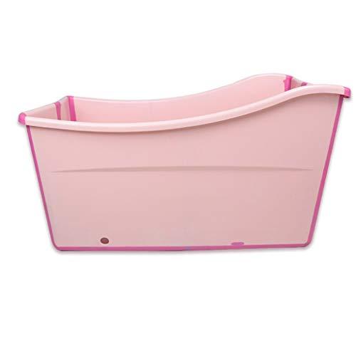 YJTGZ Badefass Portable Adult Badewanne Faltbare Badewanne Adult Badewanne Bahtub Ganzkörper-Haushaltsbadewanne Kinderbadewanne Kunststoff Blau/Pink 120 * 53 * 68cm (Farbe: Pink)