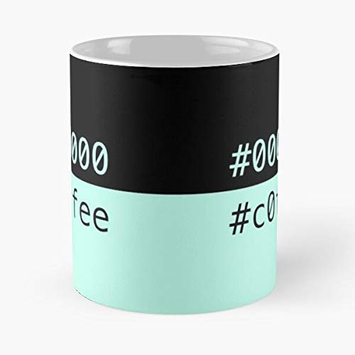 N\A Taza clásica Black Coffee CSS Hex Colors, 11 oz.