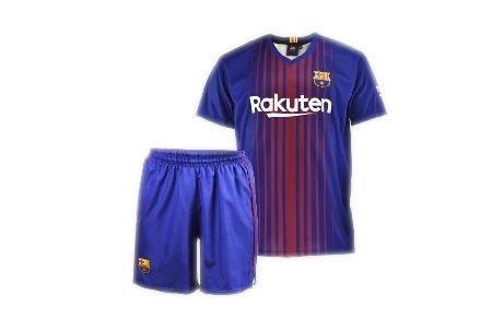 Conjunto - Kit 1ª Equipación Replica Oficial FC BARCELONA 2017-2018 Dorsal MESSI - Tallaje NIÑO (4 AÑOS)