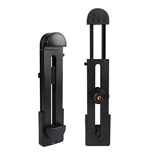Zenoplige スマホ タブレット ホルダー スマートフォン スタンド クリップ モノポッド トライポッド 垂直 ブラケット アタッチメント 撮影 三脚 アダプター 一脚 マウント iPadなど 多機種対応 (3.5-13.5インチ)