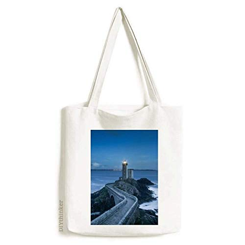 Ocean Dark Tower Picture Art Deco Gift Fashion Tote Canvas Bag Shopping Satchel Casual Bolsa