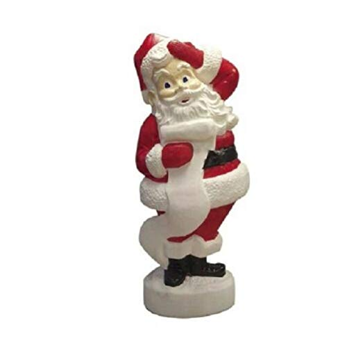 Holiday Home Lighted Santa Claus Blow Mold Sculpture Outdoor Christmas Decoration Yard Decor