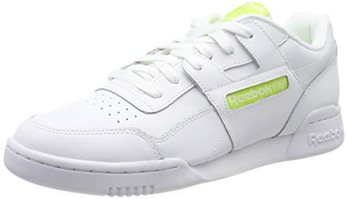 Reebok Herren Workout Plus Gymnastikschuhe, Weiß (Fcu/White/Neon Lime), 43 EU
