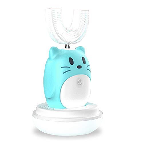 Cepillo de dientes eléctrico para niños en forma de U, recargable, inteligente...
