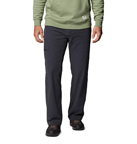 Mountain Hardwear Mens Yumalino Fleece-Lined Pant for Cold Weather Outdoor Activities - Dark Storm - 34W x 32L