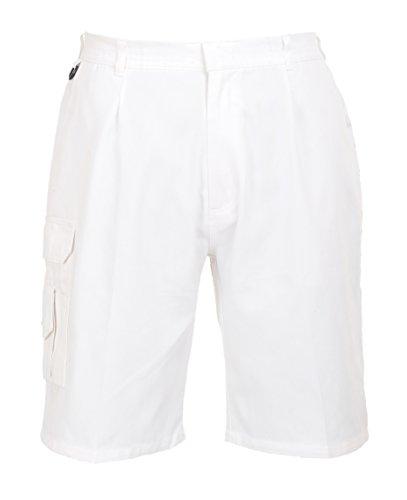 Portwest S791 - Pantalones cortos para pintores, color blanco, talla Medium
