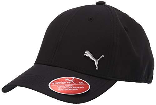 PUMA Men's Evercat Alloy Stretch Fit Cap, Black/Silver, Small/Medium