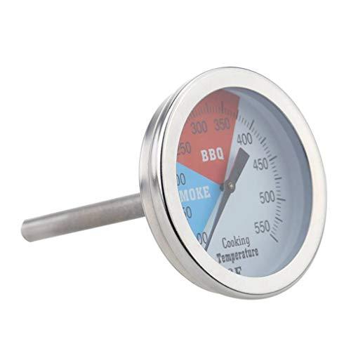 RVS BBQ Roker Pit Grill Thermometer 100-550 ℉ Oven Voedsel Vlees- Temp Gauge Household Koken Gereedschap