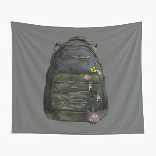 14 Ellie's Backpack The Last of Us Tapestry Wall Art Poster Tapestries for Dorms Bedroom Living Room Colorful Décor