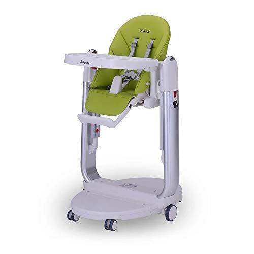 SDWP Multifunktionale Säuglings Essstuhl Aluminiumlegierung Halterung Kinder Essstuhl Zusammenklappbare Einstellbare Kindersitz (Color : Green)