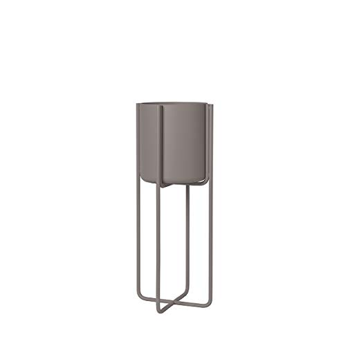 Blomus Kena Plant Stand, Small - 22cm Colour: Blomus Steel Gray