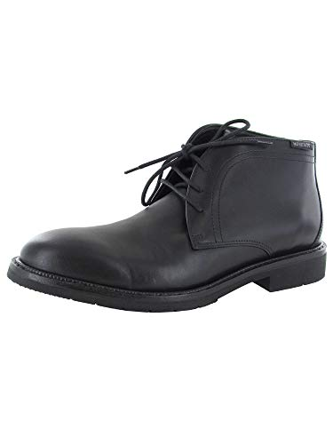Mephisto Mens Tiberio Chukka Ankle Boot Shoes, Black, US 12