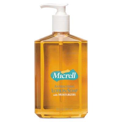MICRELL Antibacterial Lotion Soap, 12oz, Pump Bottle, Light Scent