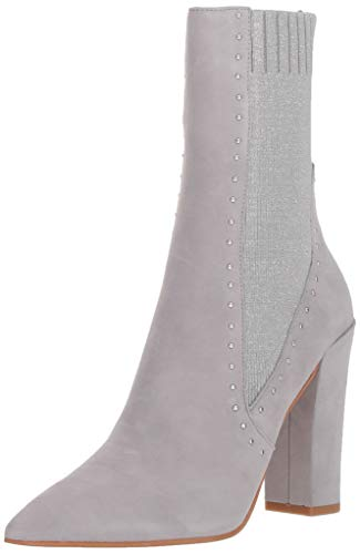 Dolce Vita Women's Echo Ankle Boot, silver suede, 7.5 M US